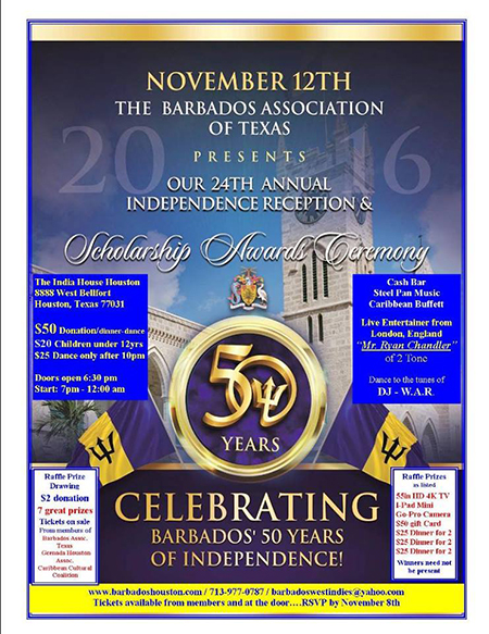 2016 Barbados Association of Texas Independence Celebration