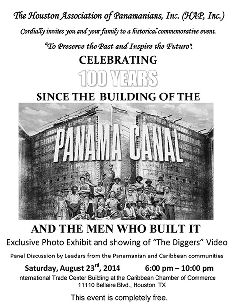 The Houston Association of Panamanians - Celebrates 100 Years Since the Building of the Panama Canal